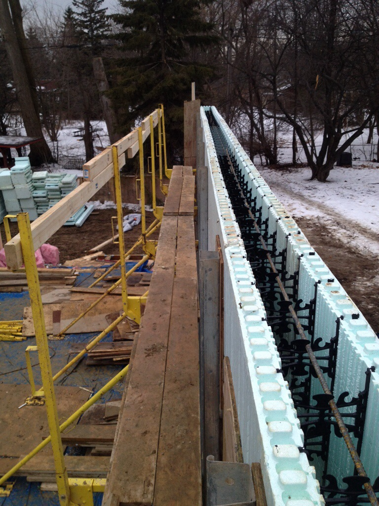 Icf building our dream home for Icf basement construction