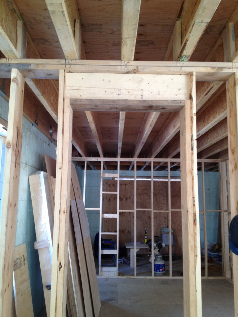 Framing The Rest Non Load Bearing Walls And Blocking Building Our Dream Home