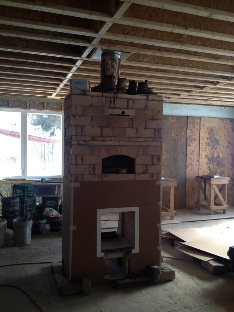Masonry Heater Construction Building Our Dream Home