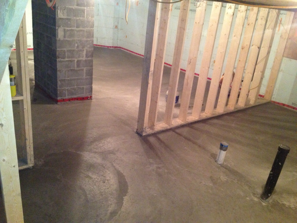 basement concrete slab building our dream home