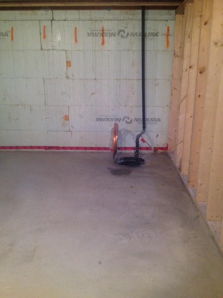 basement concrete slab building our dream home