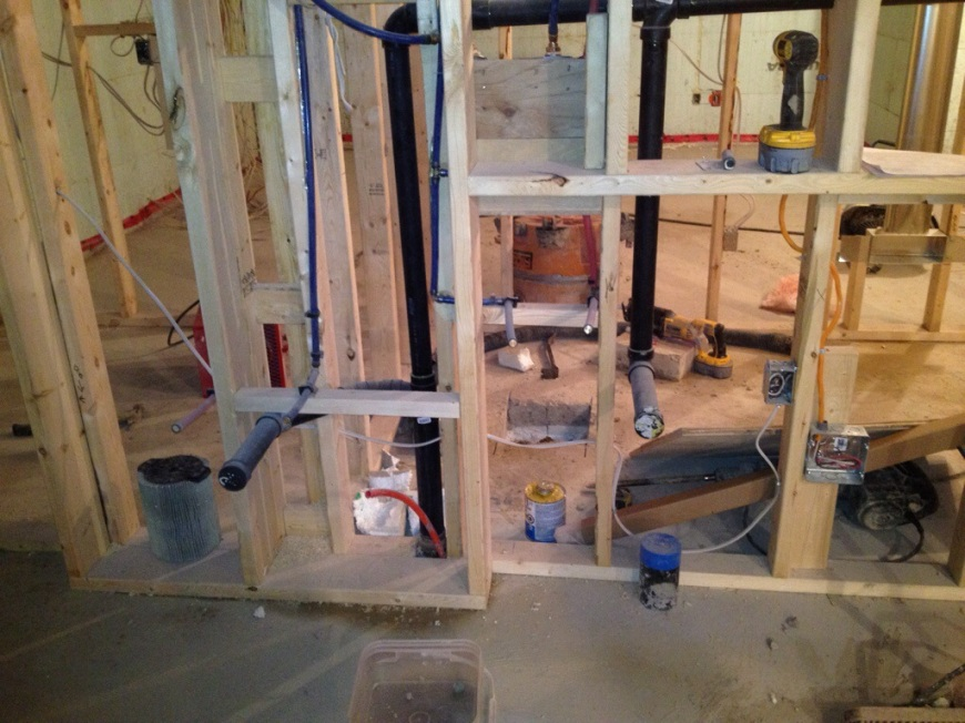 plumbing building our dream home