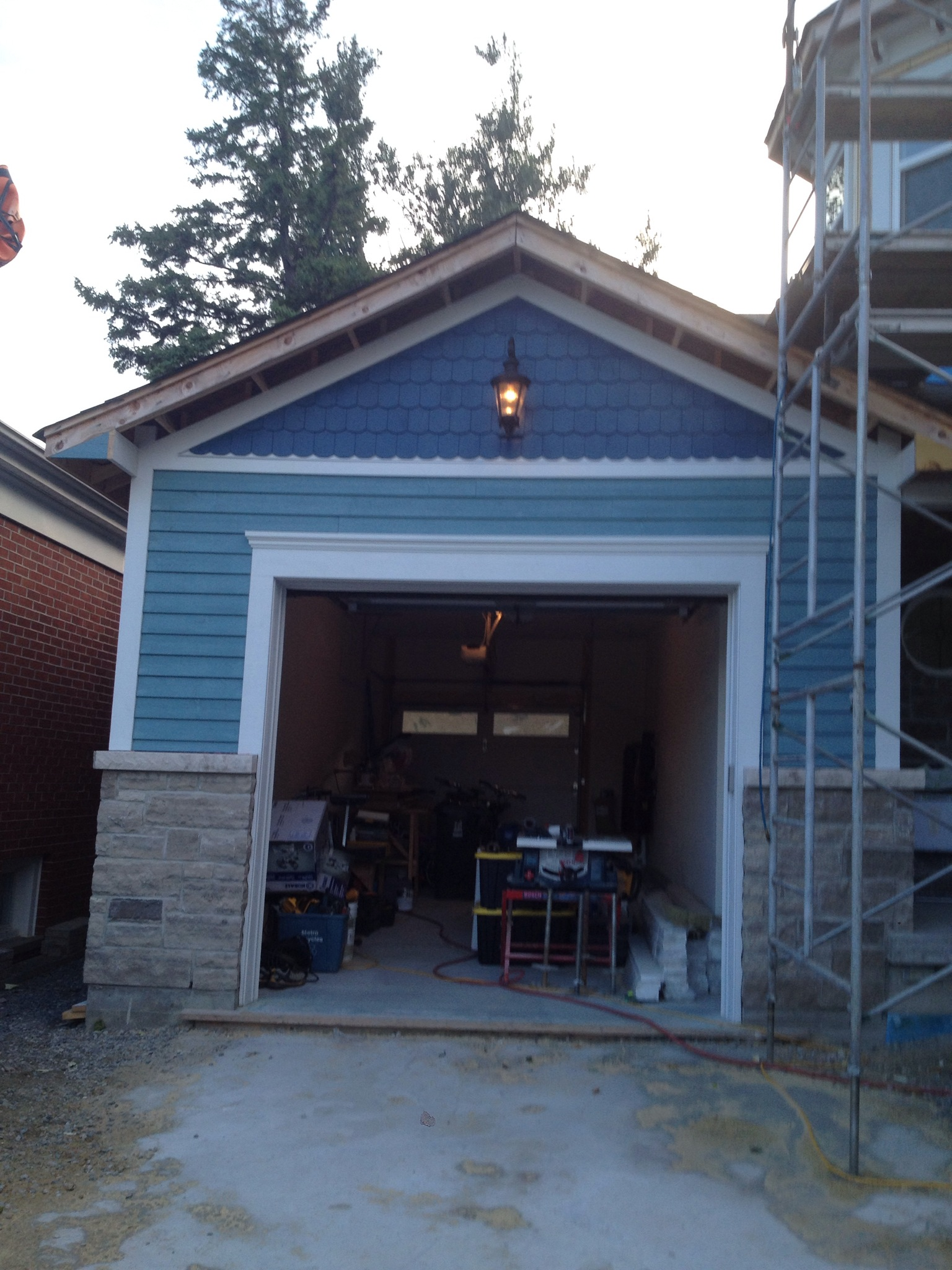 Siding building our dream home for Gable garage
